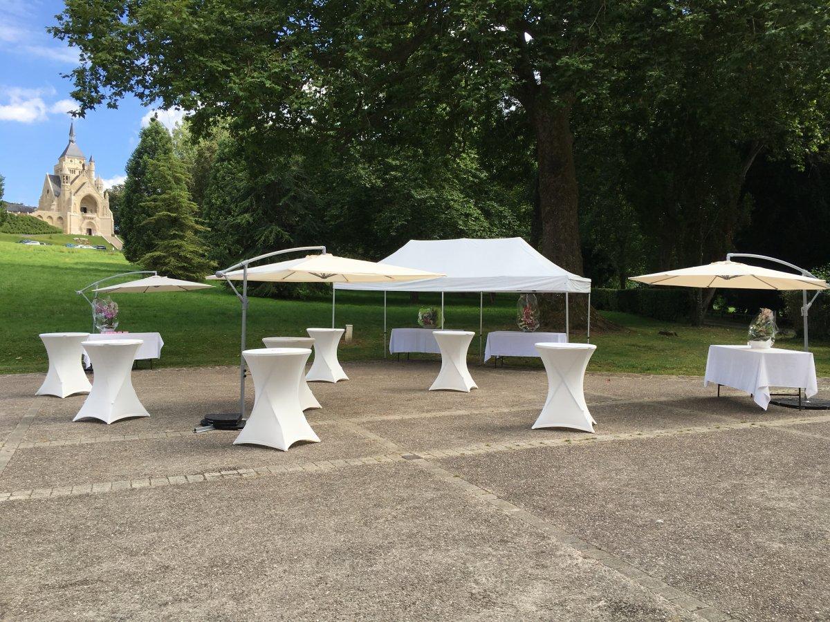 vin honneur table chapiteau